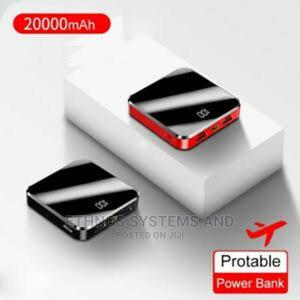 20000mah Portable Mini Power Bank Mirror Screen LED Display | Accessories for Mobile Phones & Tablets for sale in Lagos State, Ojodu