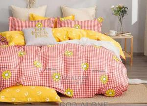 Quality 100% Cotton Duvet, Bedsheet And 4 Pillowcases | Home Accessories for sale in Lagos State, Ikeja