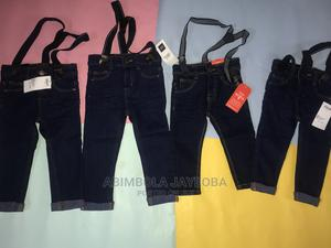 Boys Skinny Jeans Suspender -Blue | Children's Clothing for sale in Oyo State, Ibadan