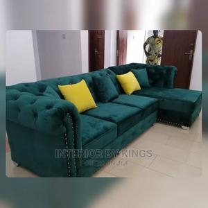 L-Shaped Chesterfield Sofa Tufted to Perfection   Furniture for sale in Lagos State, Ilupeju