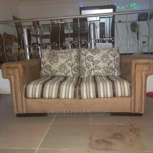 Gold and Stripe 2 Seater Sofa | Furniture for sale in Lagos State, Ajah