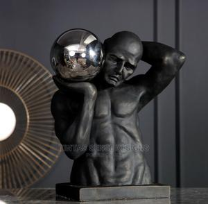 Athletic Man Holding Stainless Steel Ball Large Statue | Arts & Crafts for sale in Lagos State, Lekki