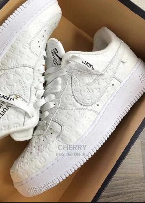 White Louis Vuitton Monogrammed Sneakers   Shoes for sale in Lagos State, Ojo