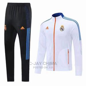Real Madrid Front Zipper Tracksuits | Clothing for sale in Lagos State, Surulere
