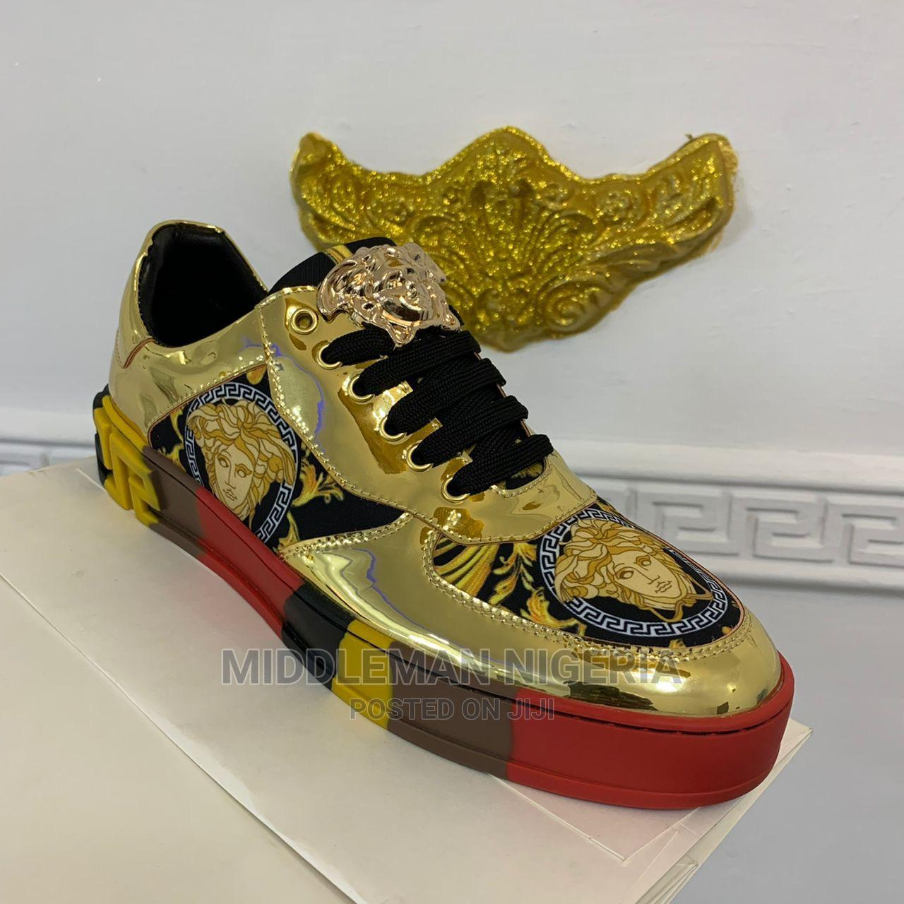 Gold GIANNI VERSACE Sneakers | Shoes for sale in Apapa, Lagos State, Nigeria