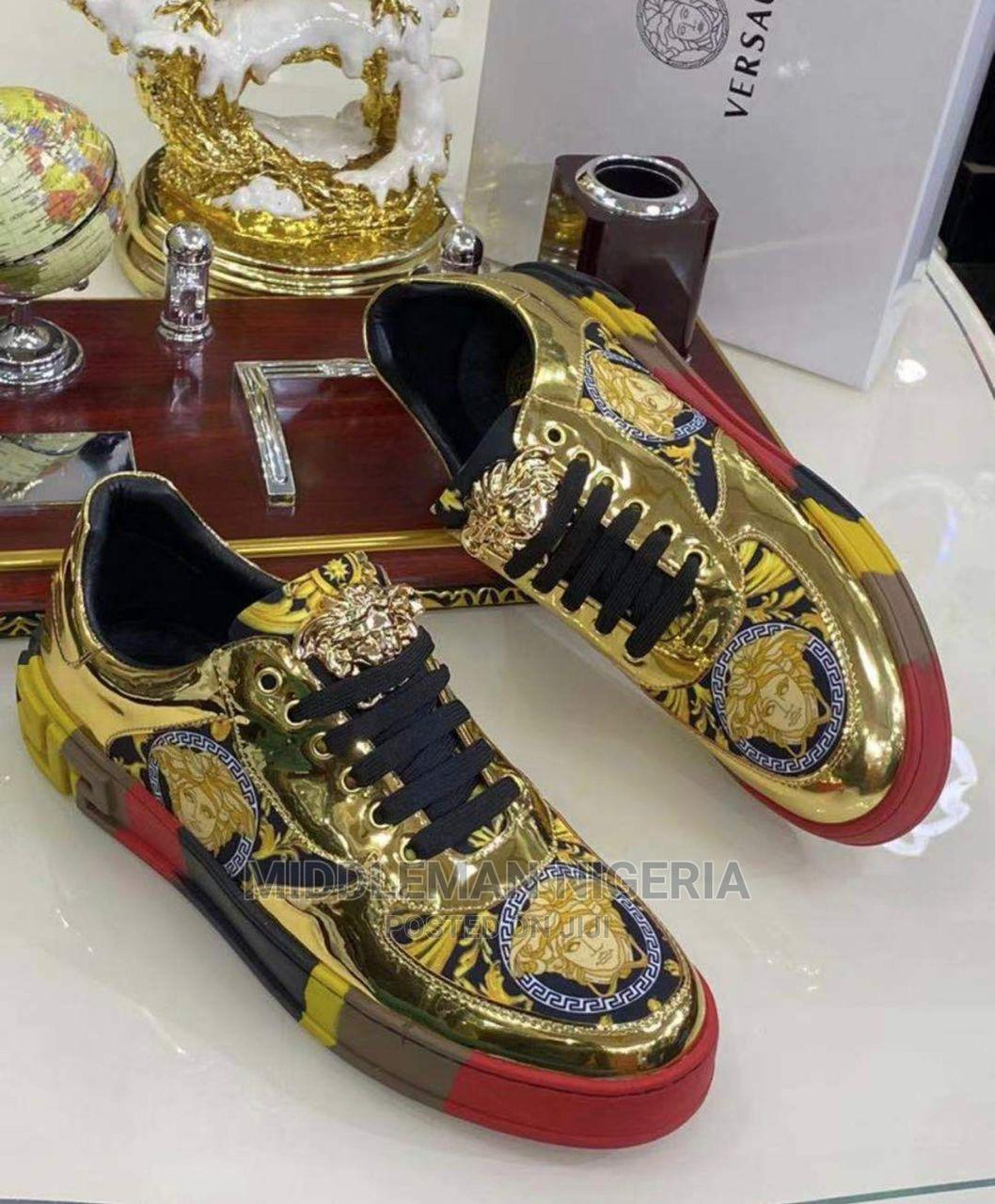 Gold GIANNI VERSACE Sneakers