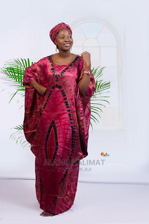 Adire Silk Boubou Gown   Clothing for sale in Ogun State, Abeokuta North
