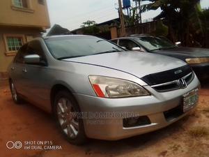 Honda Accord 2007 Sedan EX-L V-6 Automatic Silver | Cars for sale in Delta State, Oshimili South