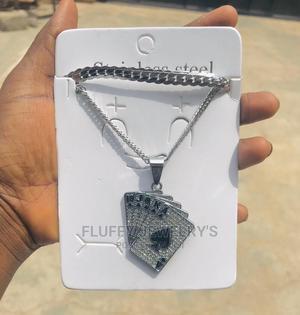 Double Silver Joker Chain,Butterfly Cuban Chain Cuban Camera   Jewelry for sale in Ondo State, Akure