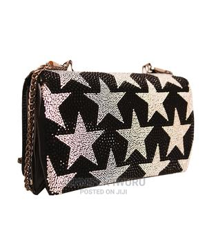 Exquisite Black Clutch Purse With Metal Strap | Bags for sale in Lagos State, Ilupeju