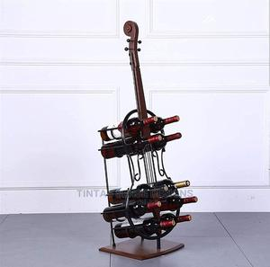 Cello 10 Bottle Iron Wine Rack Standing Floor Tall Wine | Furniture for sale in Lagos State, Lekki
