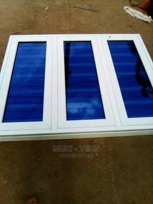 White Casement Window With Burglary and Net | Windows for sale in Lagos State, Agege