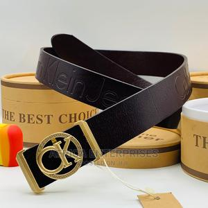 Chocolate Brown Calvin Klein Belt | Clothing Accessories for sale in Lagos State, Surulere