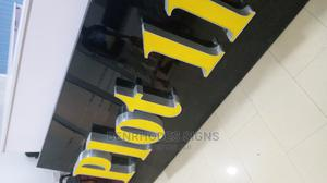Channel Letters. Brushed Silver (LED)/Sign | Manufacturing Services for sale in Lagos State, Ikeja