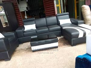 Clean L-Shaped Sofa With Throw Pillows | Furniture for sale in Edo State, Benin City