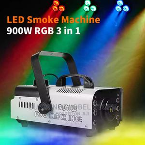 900W Disco Colorful Smoke 3in1 Machine LED Remote | Stage Lighting & Effects for sale in Lagos State, Lekki