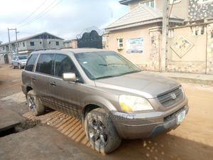 Honda Pilot 2004 EX-L 4x4 (3.5L 6cyl 5A) Brown | Cars for sale in Lagos State, Alimosho