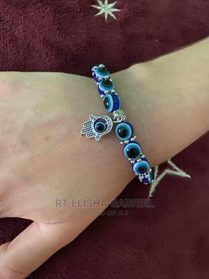 Fortified Blue Eyes Bracelet With Hand of Hamsa and Prayers   Jewelry for sale in Ogun State, Ado-Odo/Ota