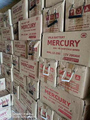 12V 200ah Verla Battery Mercury Agm/Gel Deep Cycle Battery.   Solar Energy for sale in Lagos State, Ojo