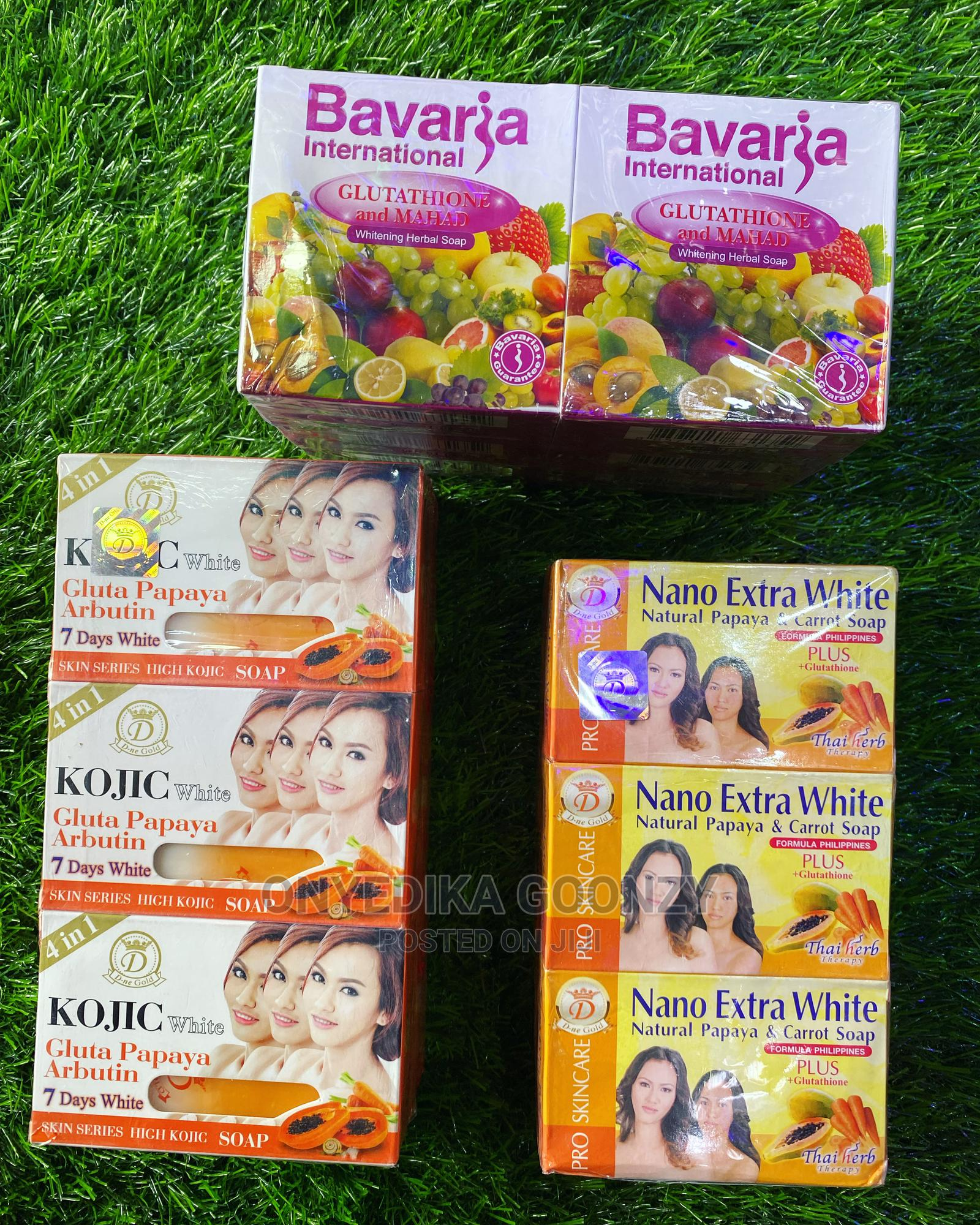 Bavaria Soap, Nano Extra White , Kojic Gluta Papaya Soap