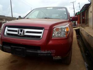 Honda Pilot 2006 EX-L 4x4 (3.5L 6cyl 5A) Burgandy | Cars for sale in Lagos State, Alimosho