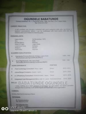 Sales Telemarketing CV | Driver CVs for sale in Lagos State, Ajah