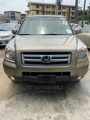 Honda Pilot 2007 EX-L 4x2 (3.5L 6cyl 5A) Gold | Cars for sale in Lagos State, Ikeja