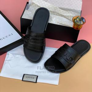Original Gucci Black Leather Slippers Available | Shoes for sale in Lagos State, Surulere