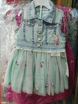 Unicorn Ball Dress With Denim Jacket   Children's Clothing for sale in Lagos State, Yaba