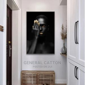 Black Gold Nude Art Woman Print Canvas Painting | Arts & Crafts for sale in Lagos State, Ojodu