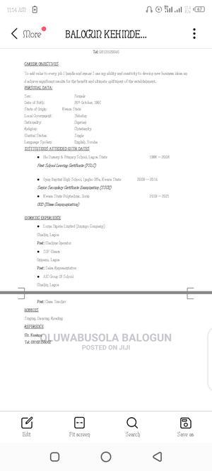 Receptionist | Hotel CVs for sale in Kwara State, Ifelodun-Kwara