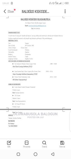 Office Secretary   Arts & Entertainment CVs for sale in Kwara State, Ifelodun-Kwara
