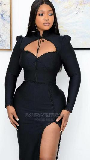 Long Sleeve Split Lace Casual Bodycon Elegant Dresses   Clothing for sale in Lagos State, Lekki