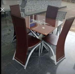 Square Dinning Table With 4 Chairs   Furniture for sale in Lagos State, Abule Egba