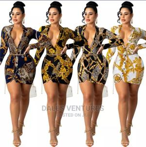 Deep v Neck Long Sleeve Modest Bodycon Mini Dress   Clothing for sale in Lagos State, Lekki