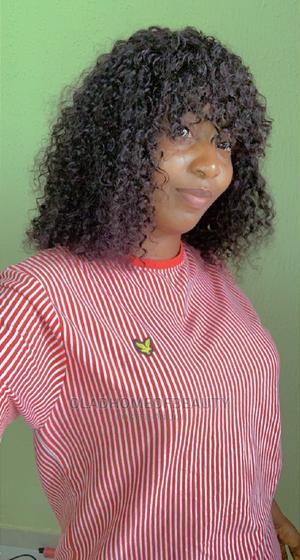 "14"" Water Curls Fringe Wig | Hair Beauty for sale in Oyo State, Ibadan"