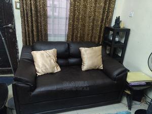 Genuine 4 Piece Brown Leather Sofa Set   Furniture for sale in Lagos State, Lekki