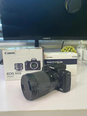Canon M50 Camera + Sigma 16mm Lens | Photo & Video Cameras for sale in Lagos State, Lekki