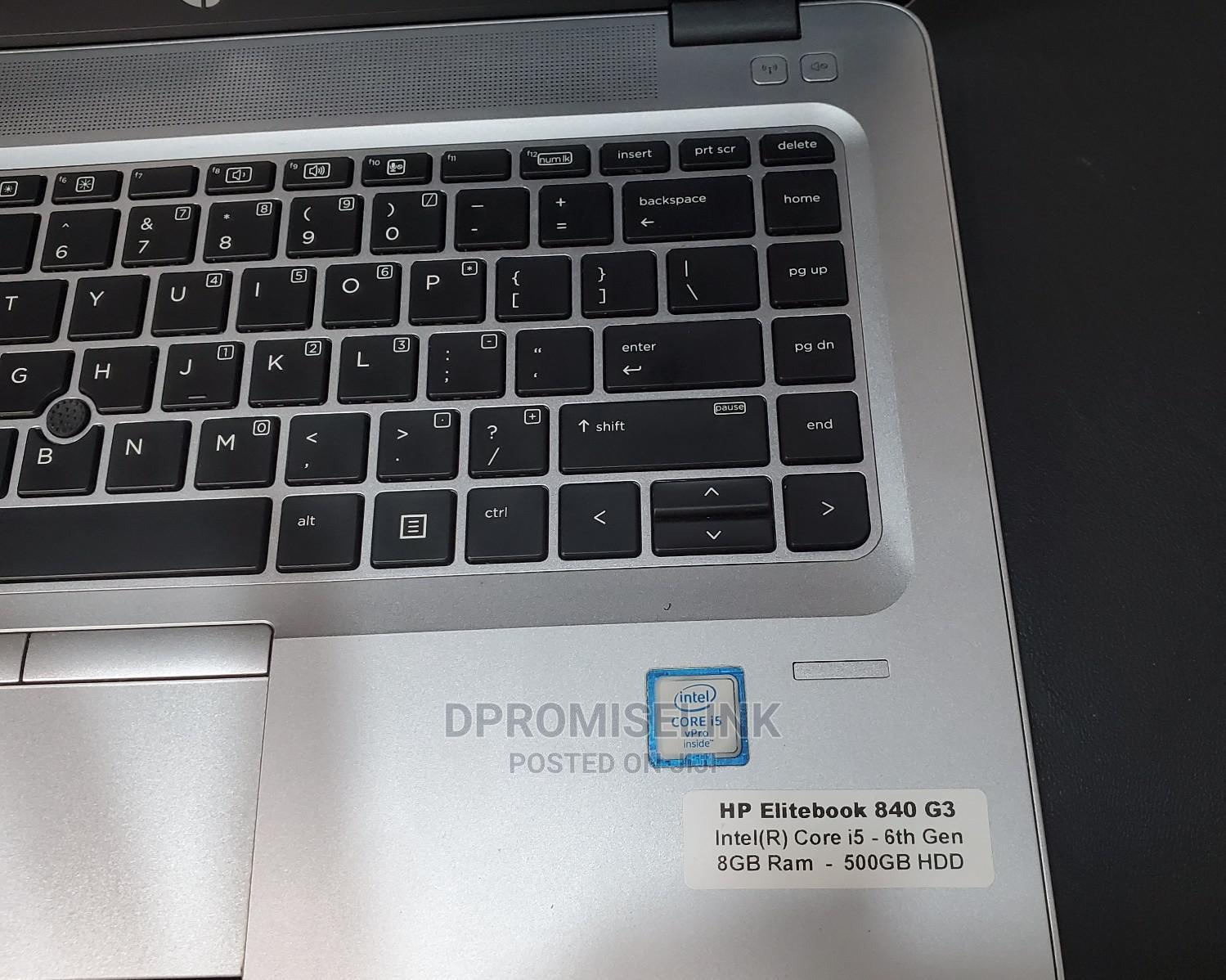 Laptop HP EliteBook 840 G3 8GB Intel Core i5 HDD 500GB | Laptops & Computers for sale in Ikeja, Lagos State, Nigeria