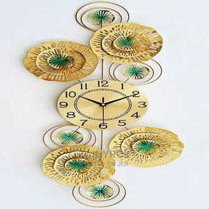 Green Gold Flowery Wall Clock - Vertical/Horizontal Design | Home Accessories for sale in Lagos State, Alimosho