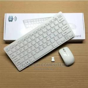 Wireless Keyboard and Mouse Combo - White   Computer Accessories  for sale in Lagos State, Ikeja