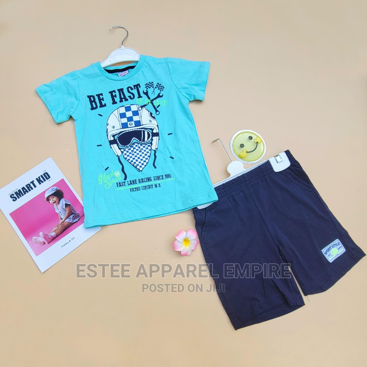 Be Fast 2 Piece Casual T-Shirt Shorts – Boys