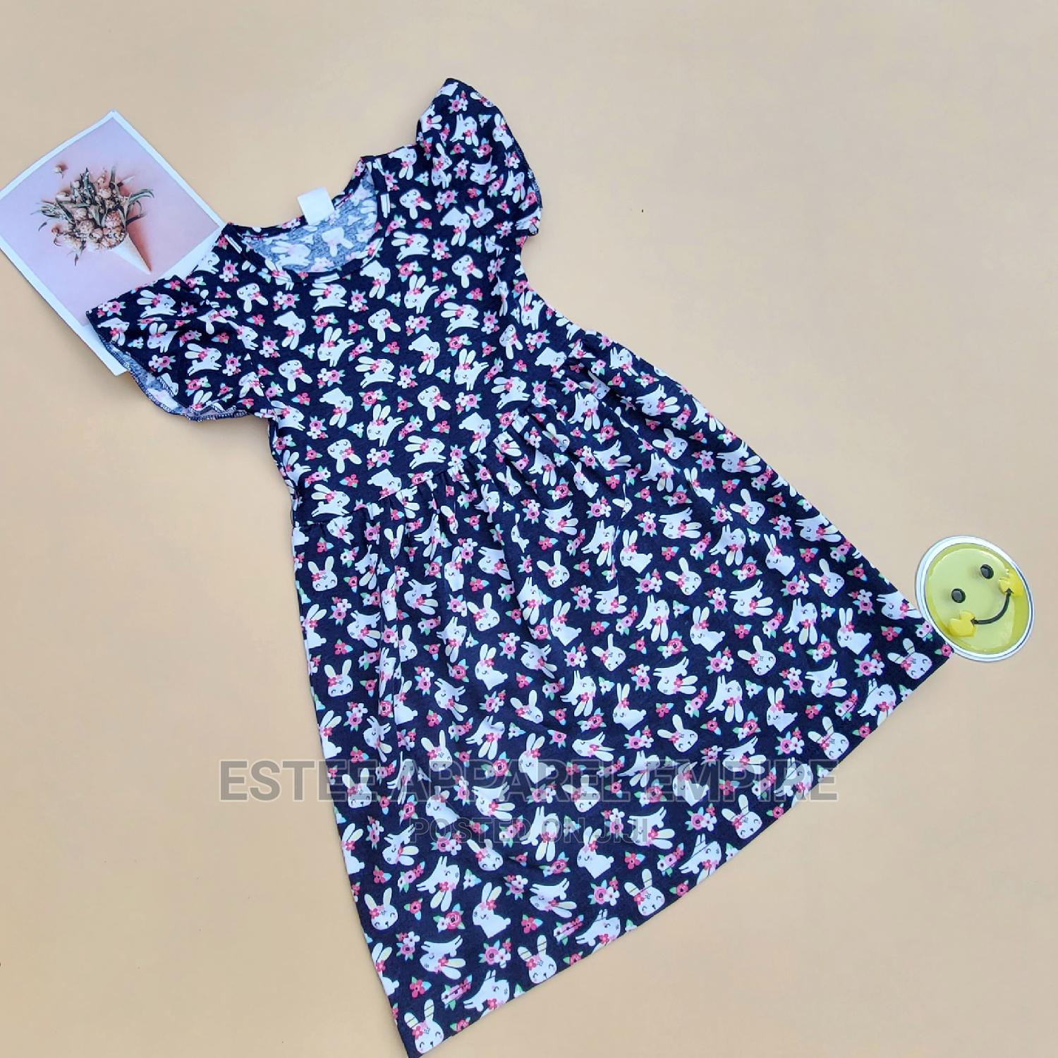 Dress With a Floral Pattern for Girls
