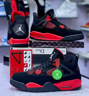 Original Air Jordan 4 Retro 'Red Thunder' Sneakers Available | Shoes for sale in Lagos State, Surulere