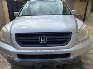 Honda Pilot 2003 EX-L 4x4 (3.5L 6cyl 5A) Silver | Cars for sale in Lagos State, Abule Egba