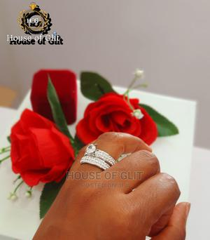 Glittering Stainless Steel 2set Wedding and Engagement Ring | Wedding Wear & Accessories for sale in Imo State, Owerri