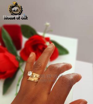 Gold Colour Stainless Steel 2set Wedding and Engagement Ring | Wedding Wear & Accessories for sale in Imo State, Owerri