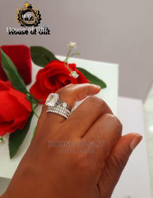 Glittering Stainless Steel 2set Wedding and Engagement Rings | Wedding Wear & Accessories for sale in Imo State, Owerri