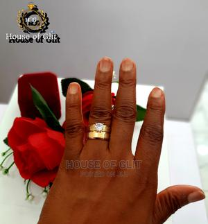 Gold Color Stainless Steel 2set Wedding and Engagement Ring | Wedding Wear & Accessories for sale in Imo State, Owerri