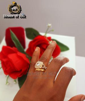 Bold Gold Color Stainless Steel Wedding And Engagement Ring | Wedding Wear & Accessories for sale in Imo State, Owerri